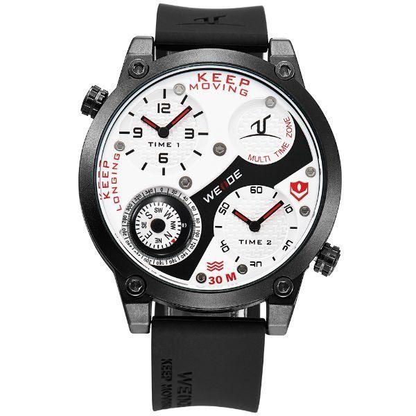 Relógio Masculino Weide Analógico UV-1505 Preto e Vermelho