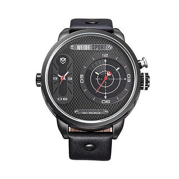 Relógio Masculino Weide Analógico WH-3409 Preto e Vermelho
