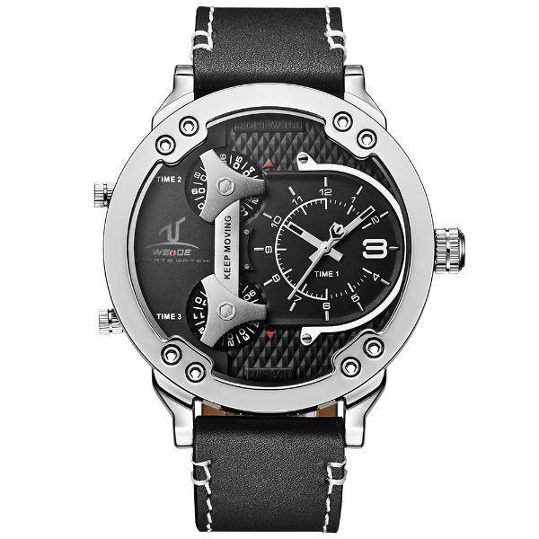Relógio Masculino Weide Analógico UV-1506 Prata e Preto