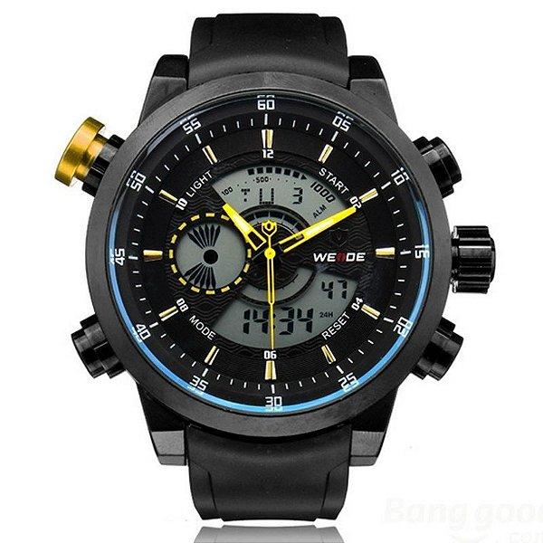 Relógio Masculino Weide AnaDigi Esporte WH-3401 Amarelo