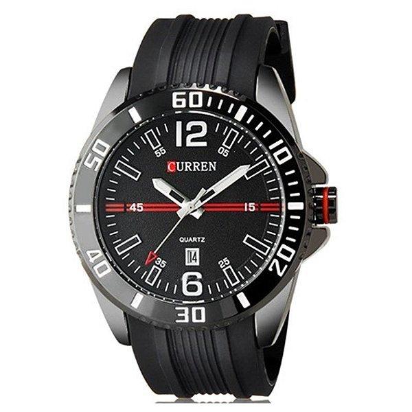 Relógio Masculino Curren Analógico Casual 8178 Preto