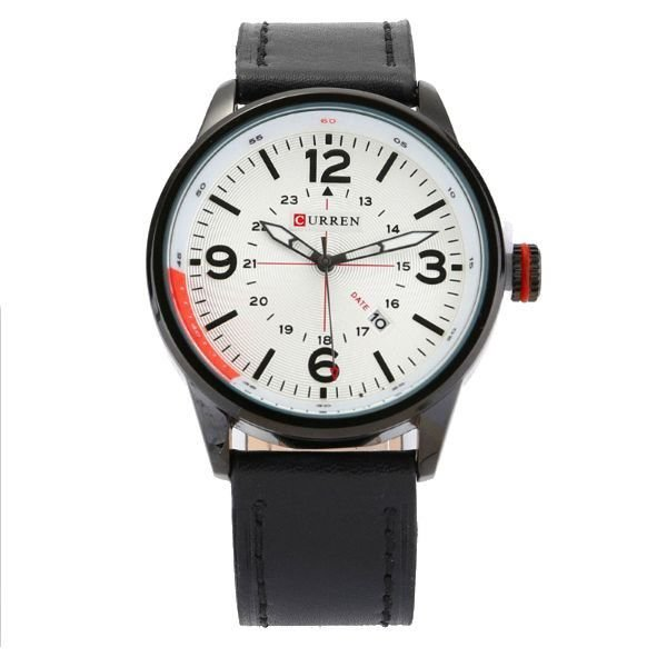 Relógio Masculino Curren Analógico 8215 Branco