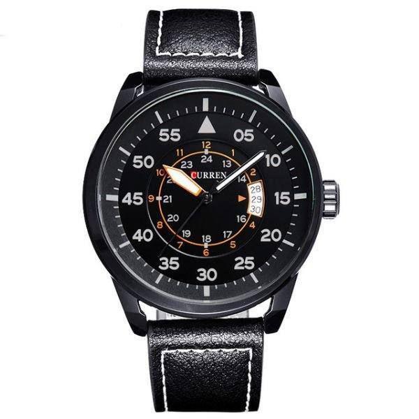 Relógio Masculino Curren Analógico 8210 Preto