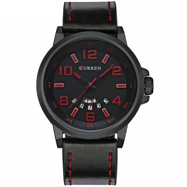 Relógio Masculino Curren Analógico 8240 Vermelho