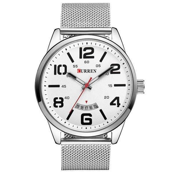 Relógio Masculino Curren Analógico 8236 Branco