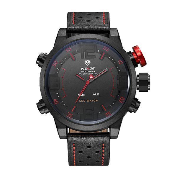Relógio Masculino Weide Anadigi WH-5210 Vermelho