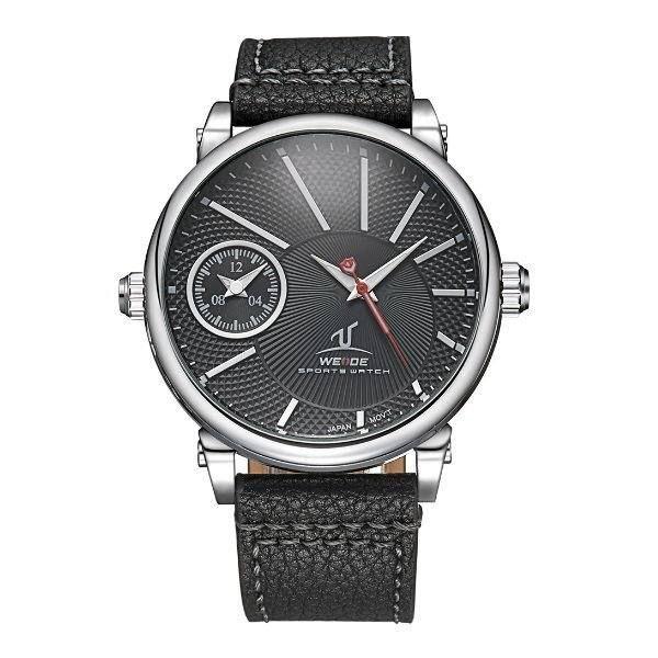 Relógio Masculino Weide Analógico UV-1508 Preto e Prata