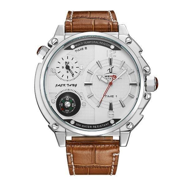 Relógio Masculino Weide Analógico UV-1507 Branco