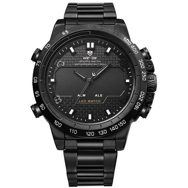 Relógio Masculino Weide Anadigi WH-6102 Preto