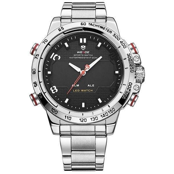 Relógio Masculino Weide Anadigi WH-6102 Prata