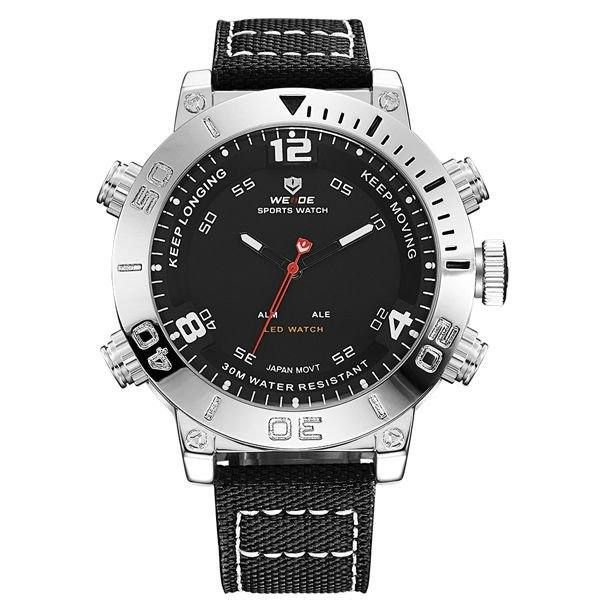 Relógio Masculino Weide Anadigi WH-6103 Preto