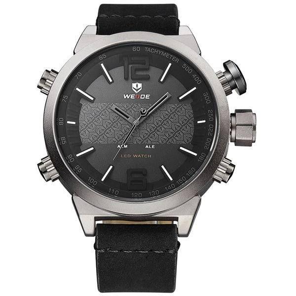 Relógio Masculino Weide Anadigi WH-6101 Cinza