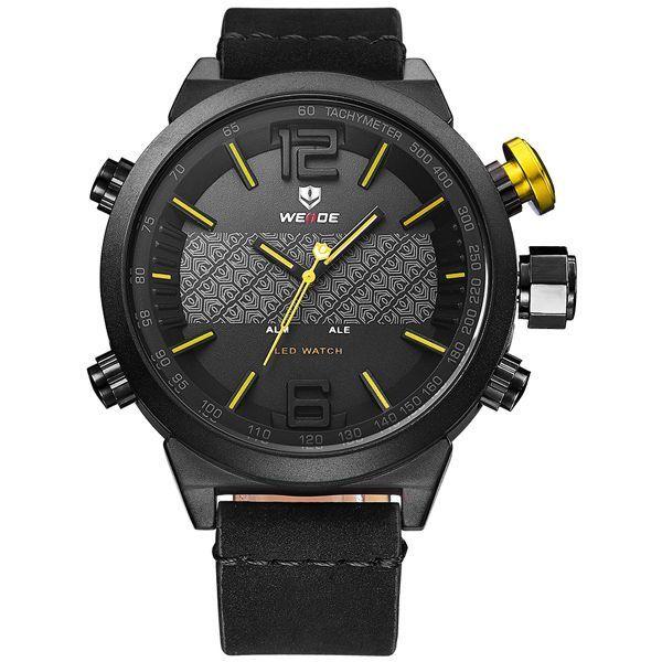 Relógio Masculino Weide Anadigi WH-6101 Amarelo