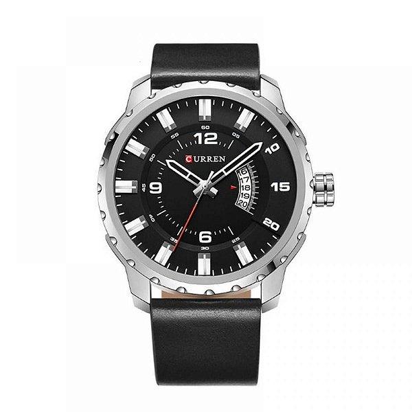 Relógio Masculino Curren Analógico 8245 Prata e Preto