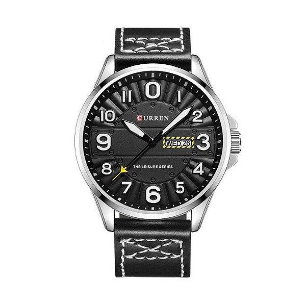 Relógio Masculino Curren Analógico 8269 Preto e Prata