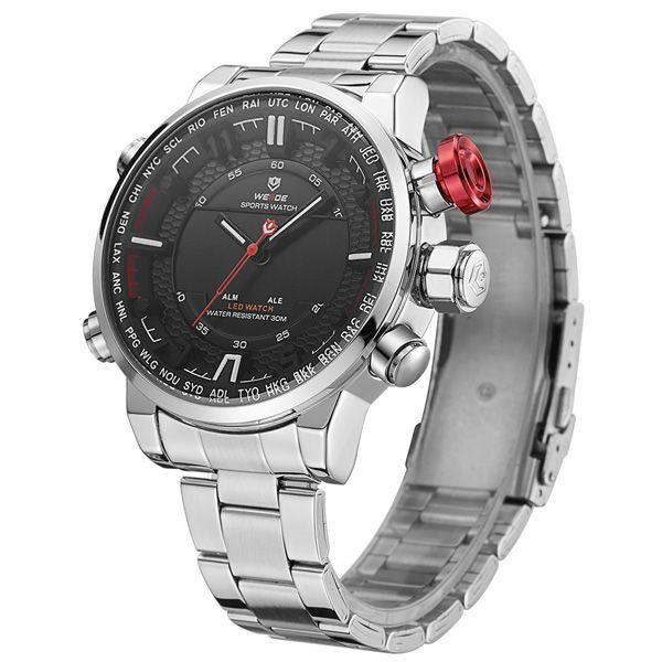 Relógio Masculino Weide Anadigi WH-6402 Preto