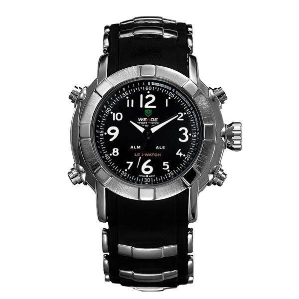 Relógio Masculino Weide Anadigi WH-1106 Branco