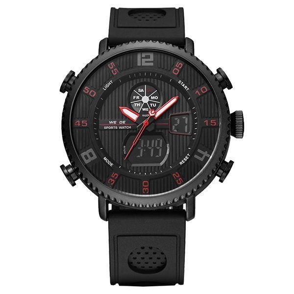 Relógio Masculino Weide Anadigi WH-6101 Preto