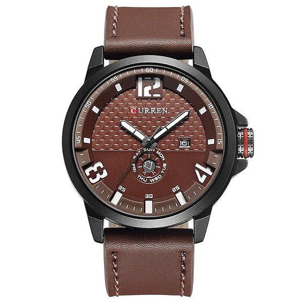 Relógio Masculino Curren Analógico 8253 Vinho