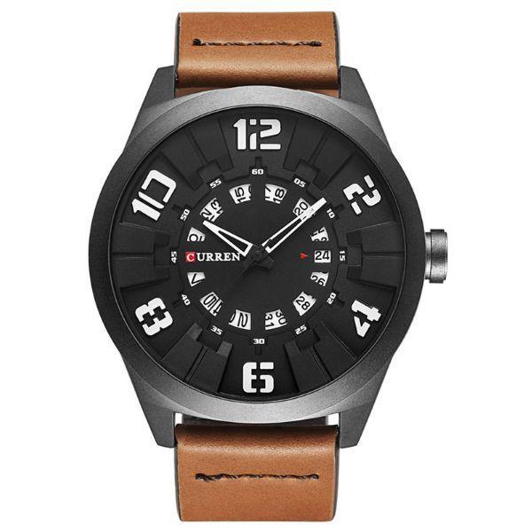 Relógio Masculino Curren Analógico 8258 Branco
