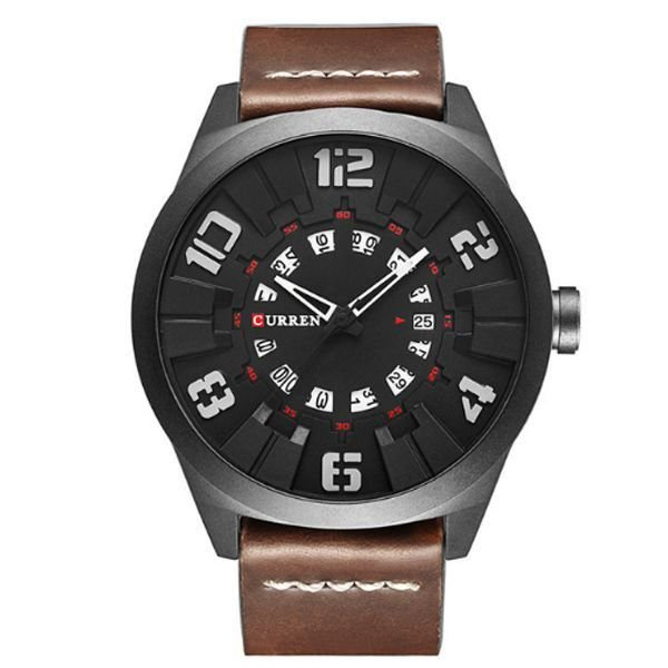 Relógio Masculino Curren Analógico 8258 Cinza