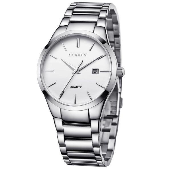 Relógio Masculino Curren Analógico 8106 Prata