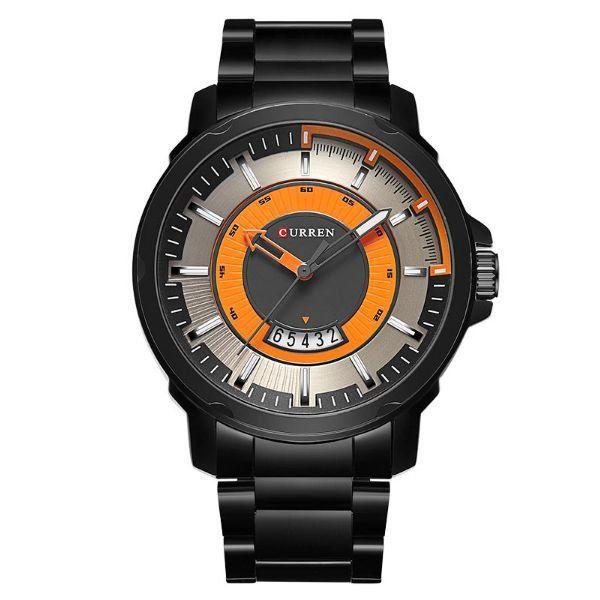 Relógio Masculino Curren Analógico 8229 Laranja