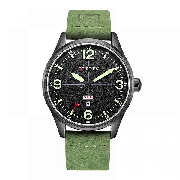 Relógio Masculino Curren Analógico 8265 Preto e Verde