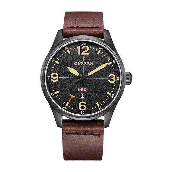 Relógio Masculino Curren Analógico 8265 Preto e Bege