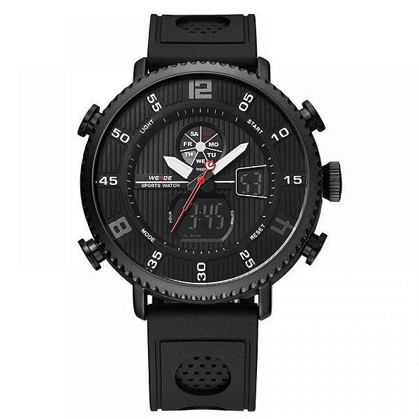 Relógio Masculino Weide Anadigi WH6106 Preto