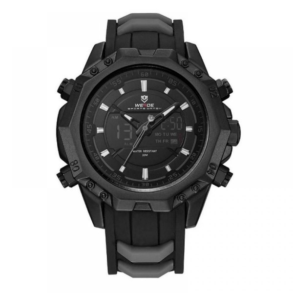 Relógio Masculino Weide Anadigi WH6406 Preto