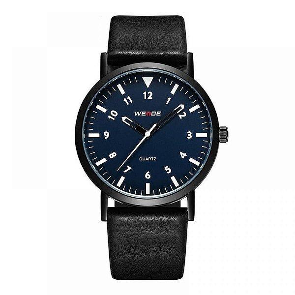 Relógio Masculino Weide Analógico WD003 Preto e Azul