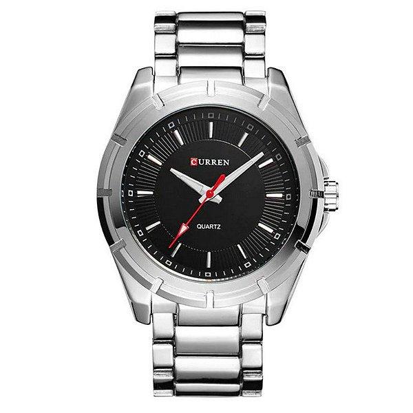 Relógio Masculino Curren Analógico 8112 - Prata e Preto