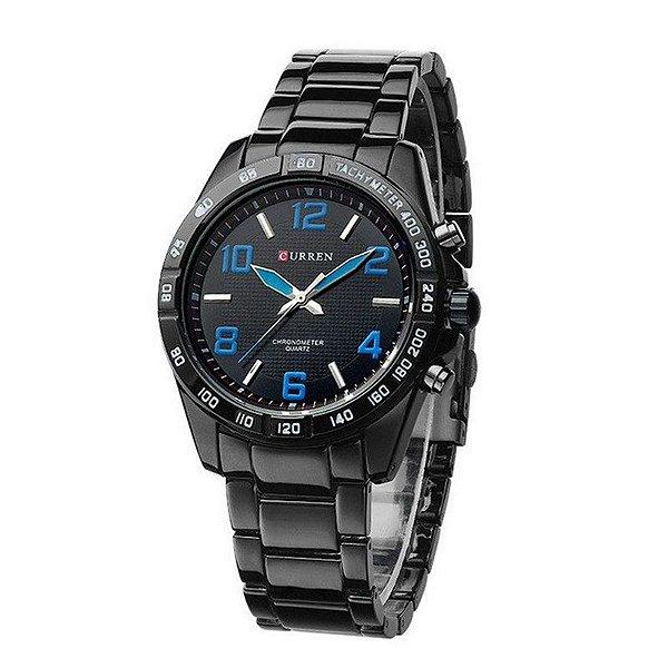Relógio Masculino Curren Analógico 8107 - Preto