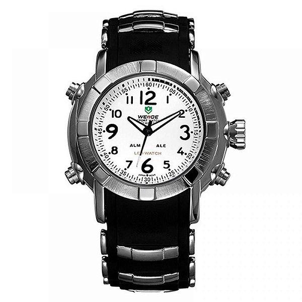Relógio Masculino Weide Analógico WH-1106 - Preto e Branco