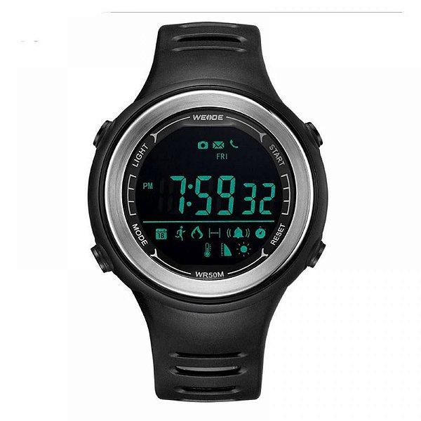 Relógio Pedômetro Masculino Weide Digital WS-001 - Preto