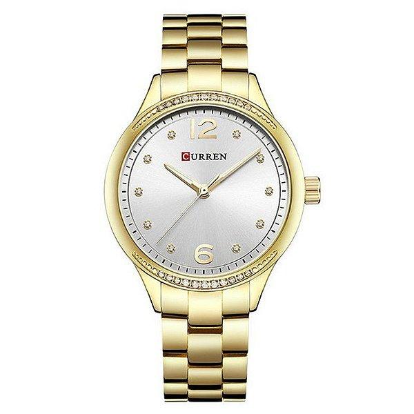 Relógio Feminino Curren Analógico C9003L - Dourado