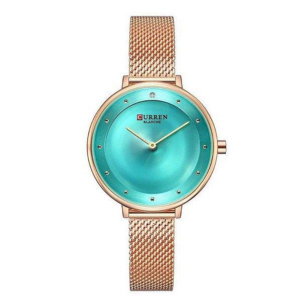 Relógio Feminino Curren Analógico C9029L - Rose