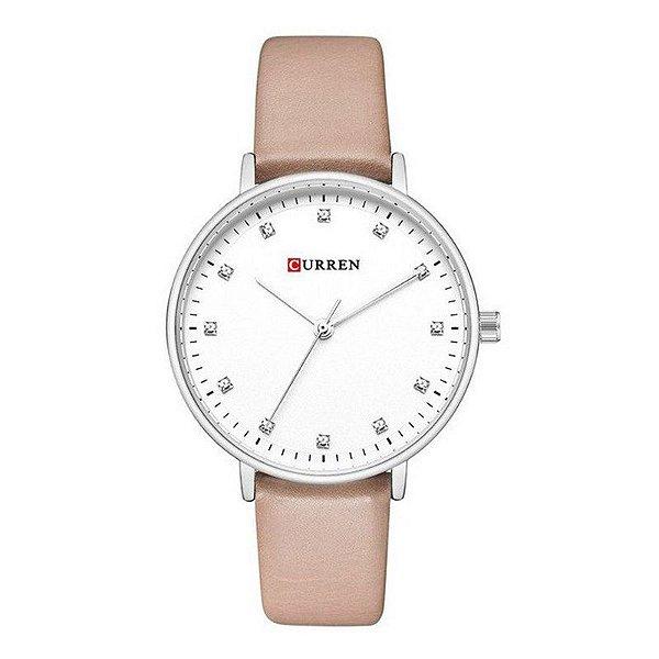 Relógio Feminino Curren Analógico C9023L - Bege
