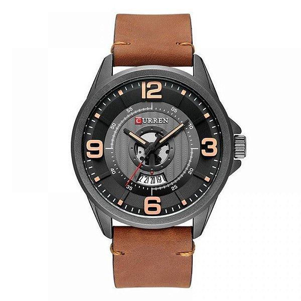 Relógio Masculino Curren Analógico 8305 - Preto e Marrom