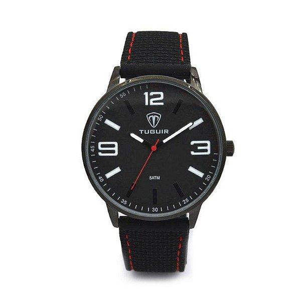 Relógio Masculino Tuguir Analógico 5046 Preto Vermelho
