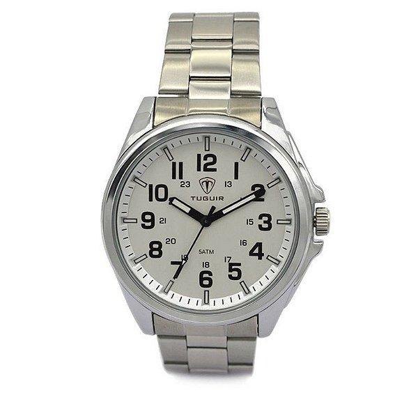 Relógio Masculino Tuguir Analógico 5045 Prata