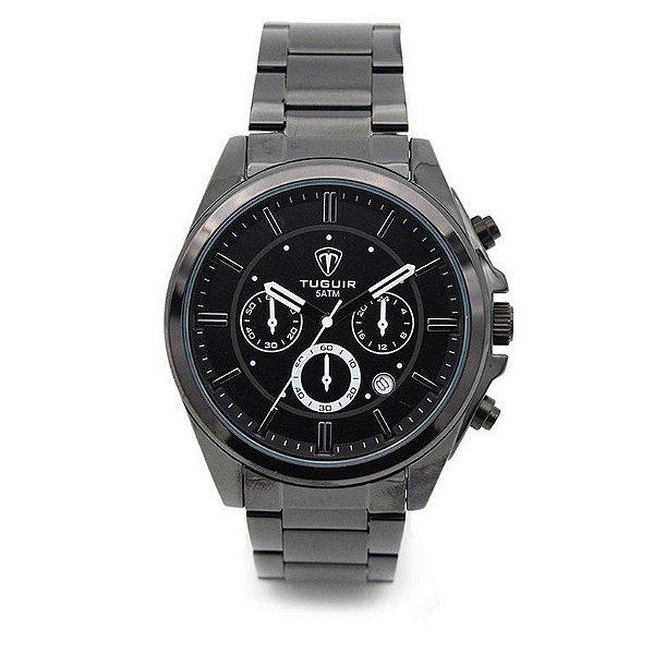 Relógio Masculino Tuguir Analógico 5048 Preto