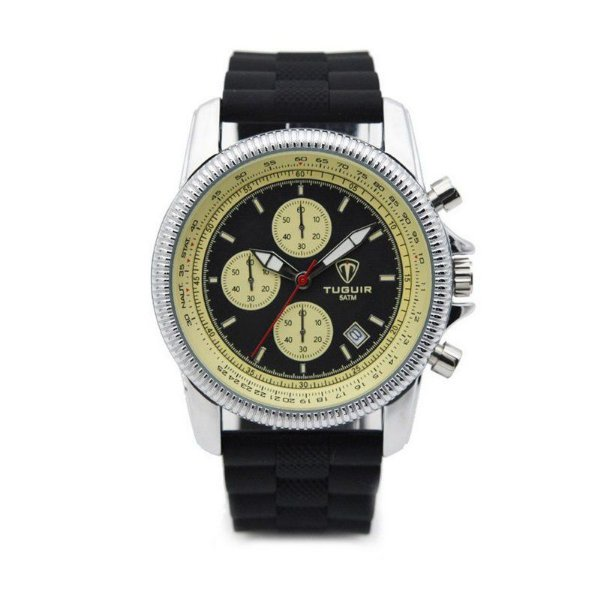 Relógio Masculino Tuguir Analógico 5027 Preto
