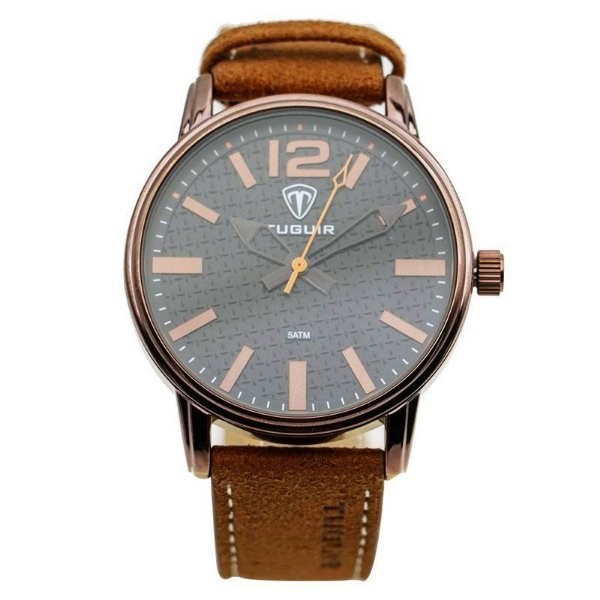 Relógio Masculino Tuguir Analógico 5445G Marrom