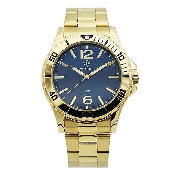Relógio Masculino Tuguir Analógico 5346G Dourado