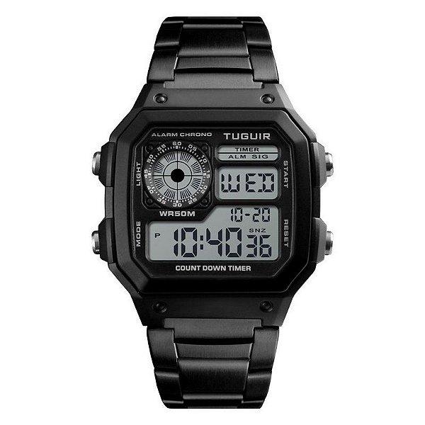 Relógio Masculino Tuguir Digital TG1335 - Preto e Preto