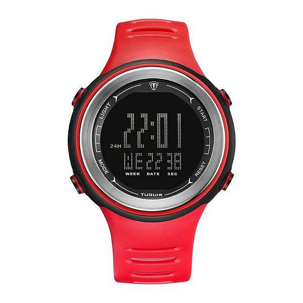 Relógio Masculino Tuguir Digital TG001 - Vermelho e Preto