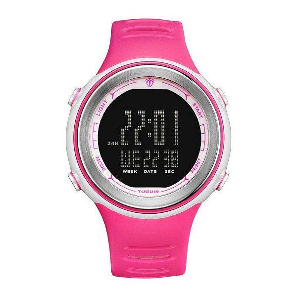 Relógio Feminino Tuguir Digital TG001 - Rosa e Preto