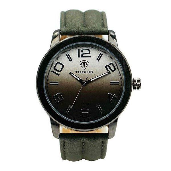 Relógio Masculino Tuguir Analógico 5001 Preto e Verde